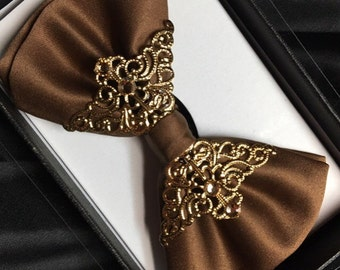 Golden Brown bow tie