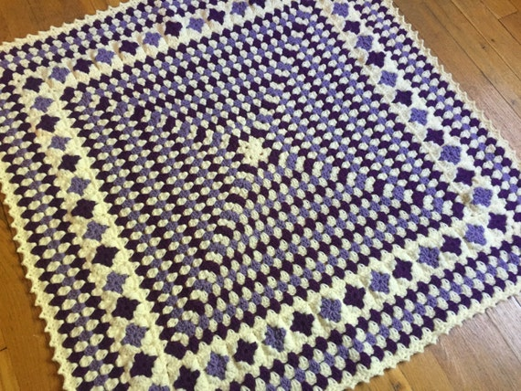 Baby Girl Giant Granny Square Blanket Ready To Ship Baby