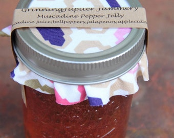 Homemade Muscadine Pepper Jelly - 8oz jar