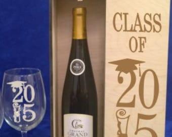 Wood Single Bottle Tall Wine Box-Personalized wine box-engraved wine box-wedding gift-holiday gift-wedding gift-Keepsake groomsman-Best man