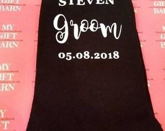 Personalised Groom Socks - Wedding Day Groom Socks