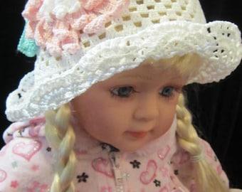 White Baby Sun Hat, Baby Girl Sun Hats Baby Girl Cloche Panama Hat, Girls Sun Hat, Toddler Summer Hat Baby Beach Hat, Brim Summer Panama Hat
