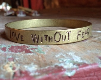 Love without Fear Bangle