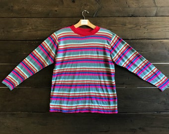 Vintage 80s L/S Striped T-shirt