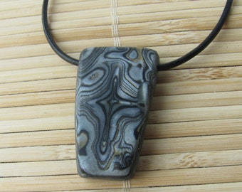 Faux Stone Tribal Style Necklace - Unisex Jewelry for Man or Woman -  Gift for Mom Wife Girlfriend Husband Boyfriend Casual Beach