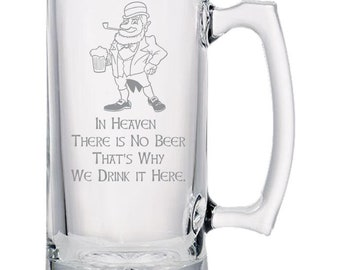 No Beer in Heaven Beer Mug