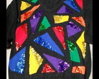 Ladies' Vintage 80s Sweater - FREE SHIPPING