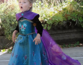 Elsa coronation costume with capelet  sc 1 st  Etsy & Elsa Frozen Complete PDF Pattern Set for Ice Dress Coronation