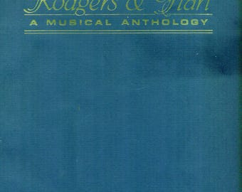 RODGERS & HART Musical Anthology SONBOOK | Piano and Vocals