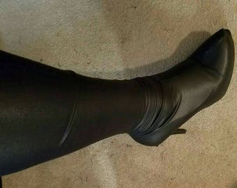 Plus size stretchy boot covers.