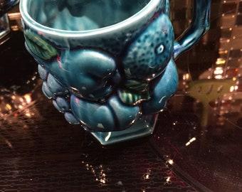 Mid Century Modern Blue Mood Mug and Creamer Inarco