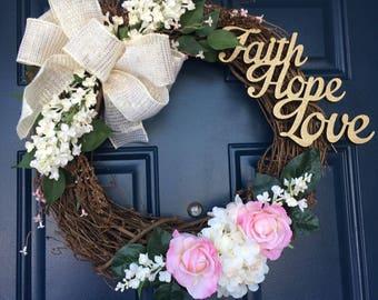 Spring Gardens Front Door Wreath