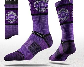 Fortified Nation Strideline Crew Socks - Purple