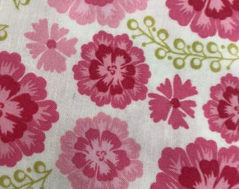 Michael Miller fabric by the yard Medallion Bloom pink