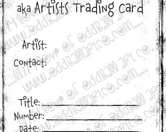 Digi Stamp Digital Instant Download ACEO/ATC Backer Card Image No. 399 by Lizzy Love