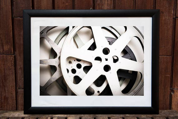 Vintage movie reel photography printable wall art home decor