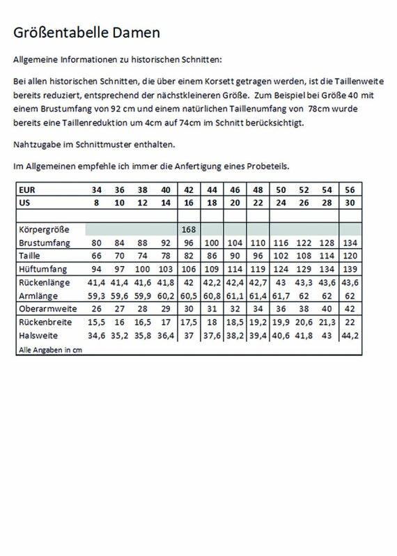 Viktorianisches Korsett Schnittmuster 1014 Größe EU 34-56 PDF