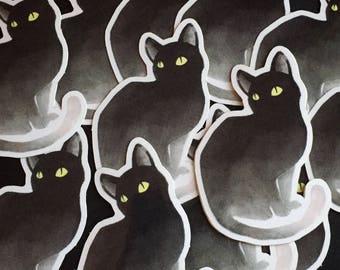 Spoopy Cat Glossy Vinyl Stickers