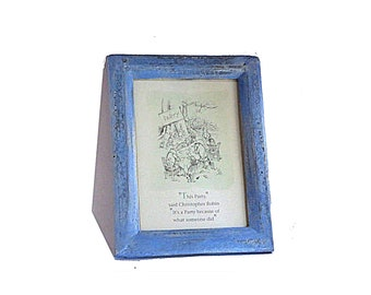 Framed vintage Winnie the pooh quotation card. 1994 classic Pooh print.