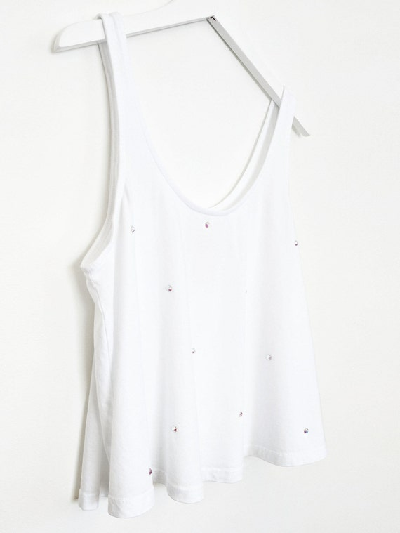 Sparkle Crop Tank with Swarovski Crystals / Organic Cotton Collection