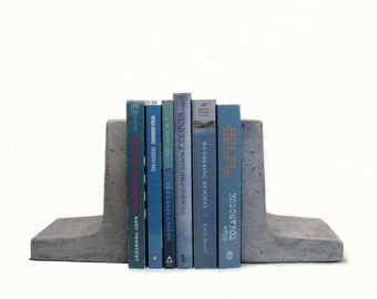 Modern Concrete Bookends