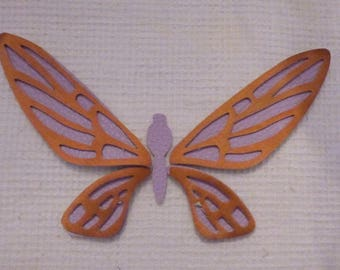 BEAUTIFUL BUTTERFLY 2 COLOURS PURPLE AND COPPER