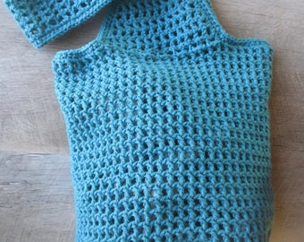 100% Cotton Market Bag - Teal