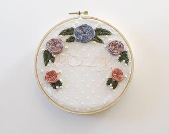6' custom embroidered hoop