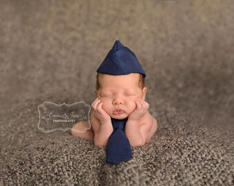 Infant Flight Cap with Tie Set, Air Force Flight Cap, Air Force Baby, Marine Flight Cap, Garrison Cap, Military Baby