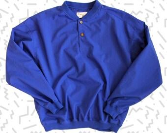 Blue Windbreaker Pullover