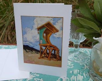 Greeting Card - Lifeguard Station - Frame Ready