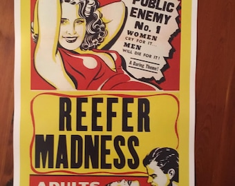 Reefer Madness vintage reproduction poster