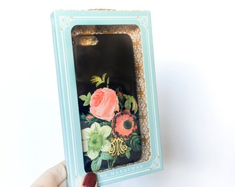 iPhone 6 Plus Case, Vintage Floral Bouquet - Ready to Ship Gift for Her, Girlfriend Gift for Wife, Sister, Woman