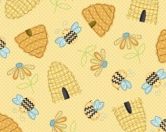 Sew Bee It  by Henry Glass  100% cotton.  114cm wide.