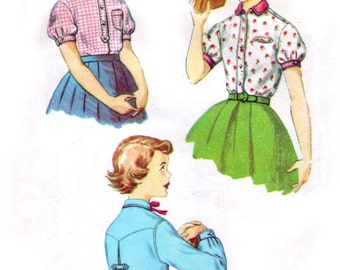 1950s Simplicity 4869 sewing pattern // Girl's Shirt