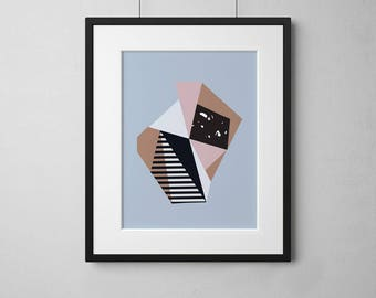 A4 Art Print • Wall Art • Abstract • Pastel • Collage • Modern • Art Print • Geometric • NEAPOLITAN