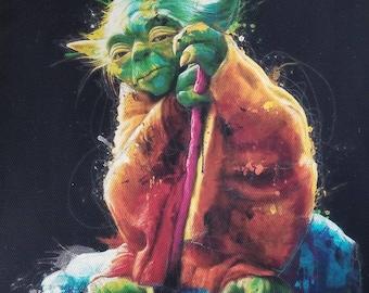 Star Wars Yoda Print on Canvas