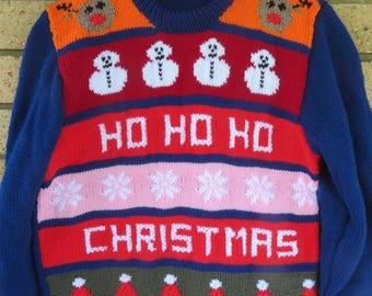 Ugly Christmas Sweater - Ho Ho Ho Christmas