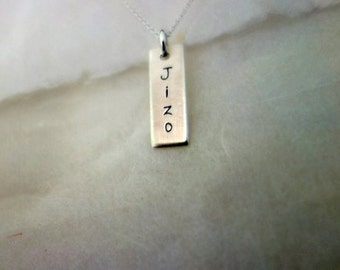 Jizo Name Pendant, Jizo Text Necklace, Buddha Jewelry, Buddhist Jewelry, Meditation Jewelry, Spiritual Necklace, Buddha Accessories