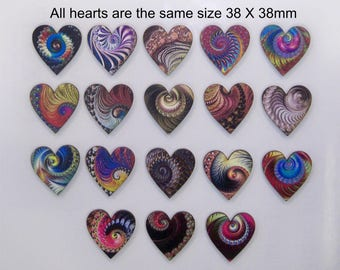 18 X Heart shape Fractals
