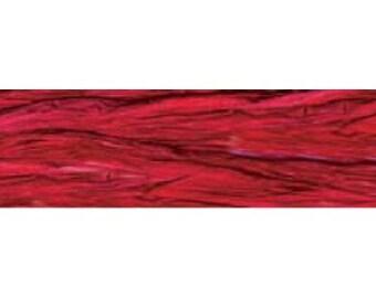 Raffia ribbon100 yards Red raspberry pearlized raffia     (20-P-349)