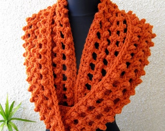 Crochet Scarf PATTERN, Infinity Scarf Pattern, Chunky Scarf Pattern, Scarf Circle DIY, Instant Download, PDF Pattern #62, Lyubava Crochet