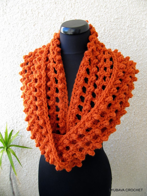 Crochet Scarf PATTERN Infinity Scarf Pattern Chunky Scarf