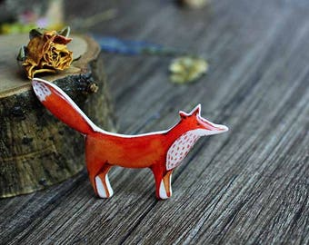 Cute Fox Brooch Birthday Gift|for|kids Christmas Gifts|for|her Birthday Idea|for|Girlfriend Fox Lover Gifts Woodland Gifts|for|children