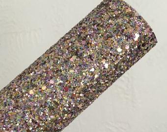 Purple and Green Mix Fabric Glitter Sheet