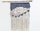 Neutrals & Navy Triangles Weaving Woven Wall Hanging