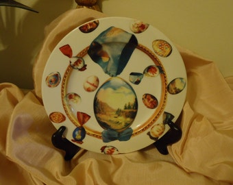 Vintage UOVA 8 inch  Plate Made in Italy