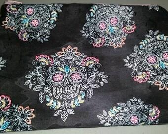 Sugar Skull Sketch Cosmetic Bag