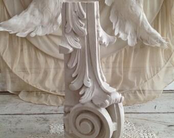 Antique Painted Architectural Salvage Pediment Piece