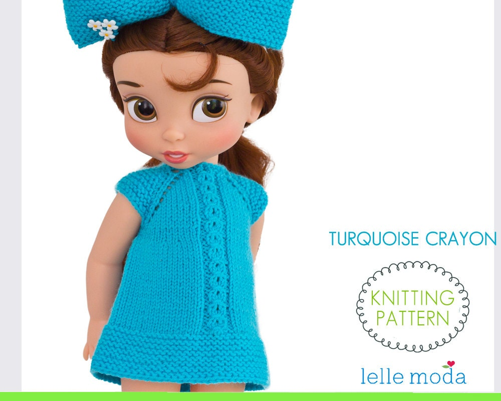 Doll Clothes Knitting Pattern Dress For Disney Animators